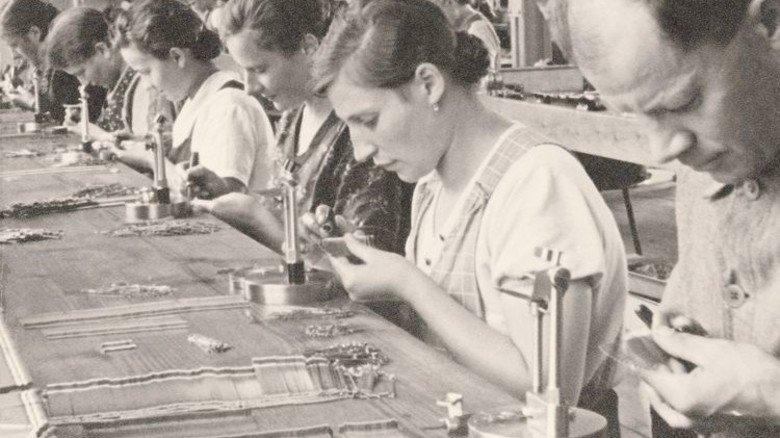 Historisch: Foto aus der früheren Groz-Beckert-Werkstatt. Foto: Werk