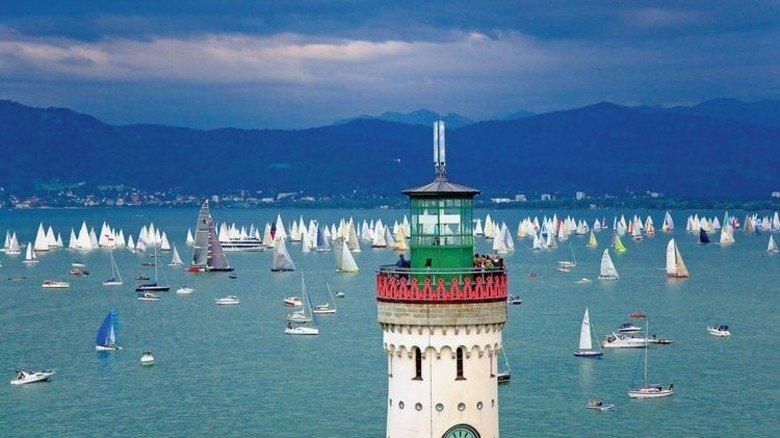 Idyll am Wasser: Leuchtturm in Lindau. Foto: Lindau Tourismus/Mende