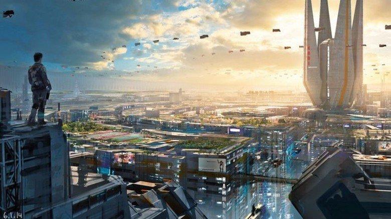 """Flugobjekte über einer Mega-City: So die magische Vision der Künstler-Community """"2buiArt"""". Foto: 2buiart"""