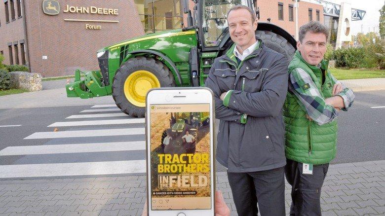 """Starker Auftritt: Drei Staffeln der """"Tractor Brothers"""" sind bereits auf dem Handy abrufbar."""