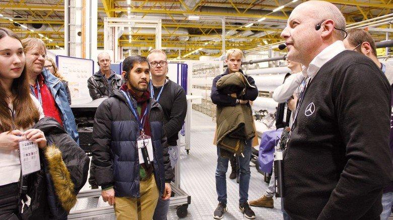 Mercedes Hamburg: Hier bekamen die Besucher unter anderem interessante Informationen zum Thema Leichtbau.