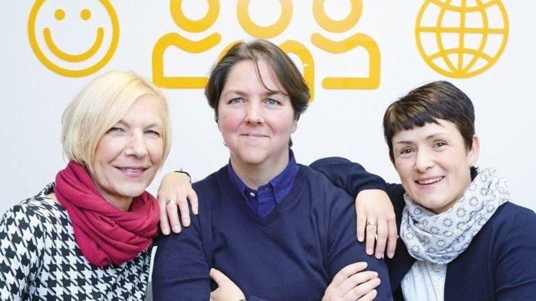 Eingespieltes Team bei Continental: Personalchefin Sigrid Hartung, Mitarbeiterinnen Jeanette Maschek, Mandy Fehringer (v.l.). Foto: Sturm