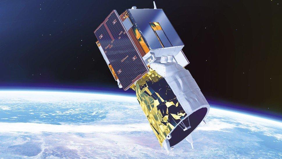 """Ausguck: Von hoch oben beobachtet der Forschungssatellit """"Aeolus"""" die Erdatmosphäre."""