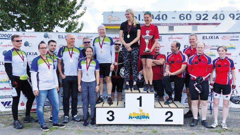 Starkes Team: Die HPS-Sportler nach dem Norderstedter Lauf. Foto: Hanseatic Power Solutions