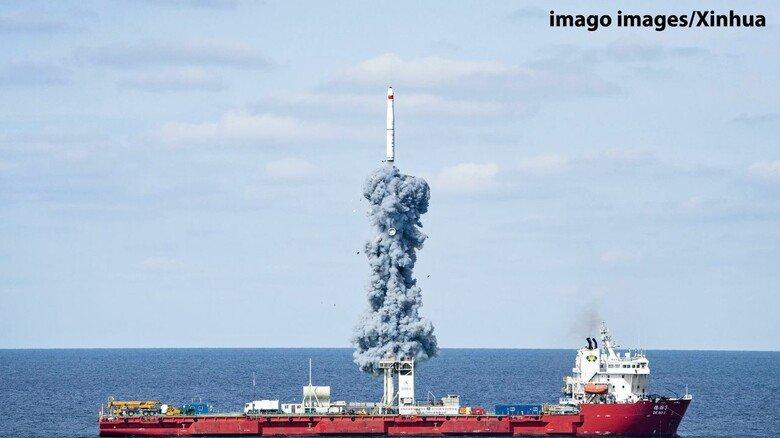 Vorbild China: Die Volksrepublik nutzt bereits Schiffe als Startbasis für Raketen.