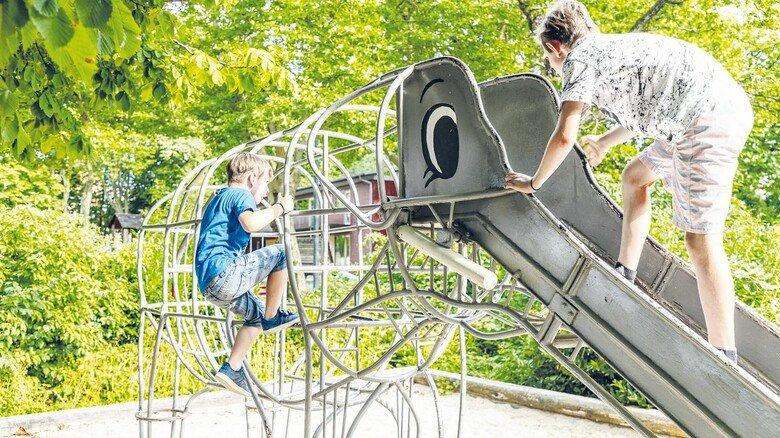 Verspielt: Auch die Kleinen können sich auf der Landesgartenschau Lindau austoben.
