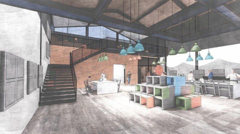Erste Pläne: Auf 200 Quadratmetern soll das Technikzentrum Hagen den Jugendlichen eine offene Lern- und Arbeitsatmosphäre bieten.