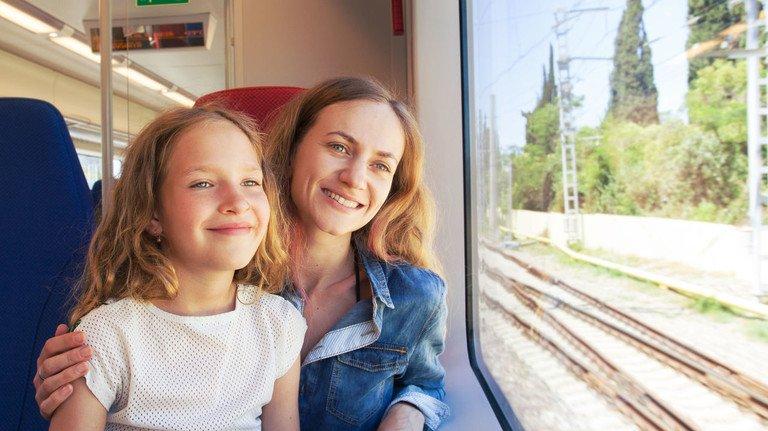 Unterwegs mit der Bahn: Ein Beispiel dafür, wie sich klimafreundlich und entspannt reisen lässt.