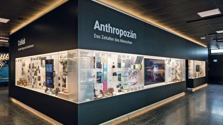Mensch und Tier: Die multimediale Ausstellung im neuen Foyer des Museums befasst sich mit den Einflüssen unserer Zivilisation auf die Natur. Foto: RRZ/MCC, Mentz