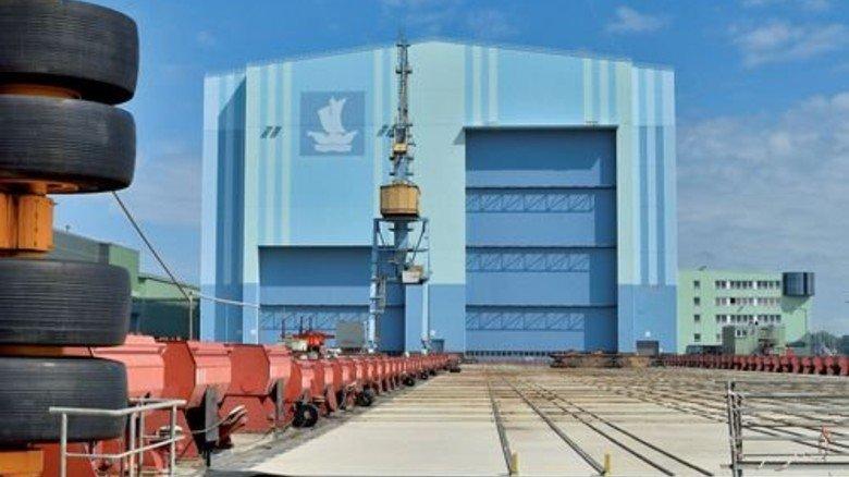 Verkauft: Die Werft in Stralsund. Foto: Werk