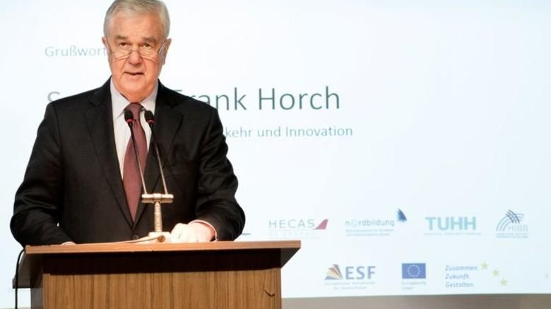 Auftakt: Hamburgs Wirtschaftssenator Frank Horch begrüßte die rund 100 Gäste der Veranstaltung. Foto: Kreller