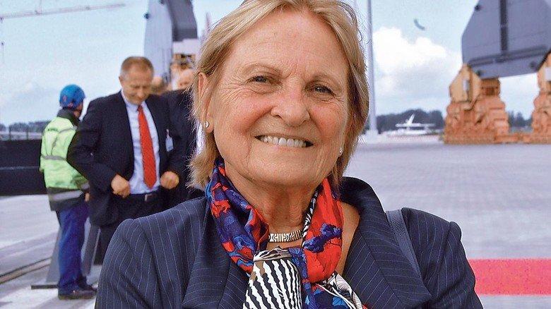 Aus der Ferne angereist: Isolde Liebherr, die gemeinsam mit ihrem Bruder Willi den Liebherr-Konzern führt.