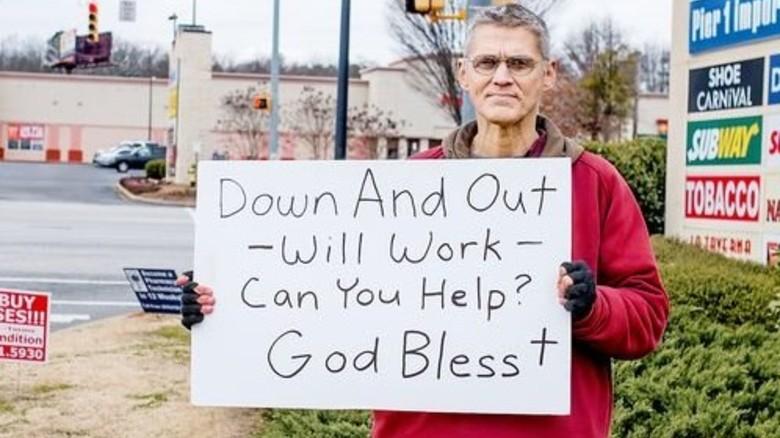 Auf Jobsuche: Noch kommt der Boom nicht bei allen Amerikanern an. Foto: Roth