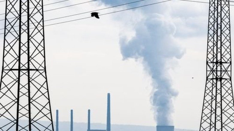 Kühltürme: Kohlekraftwerk Staudinger in Hessen. Foto: dpa