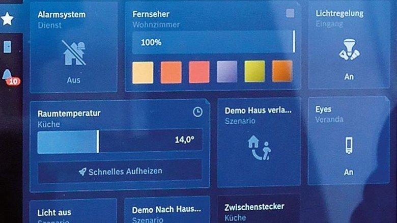 Display: Die digitale Steuerung einer Heizungsanlage. Foto: Scheffler