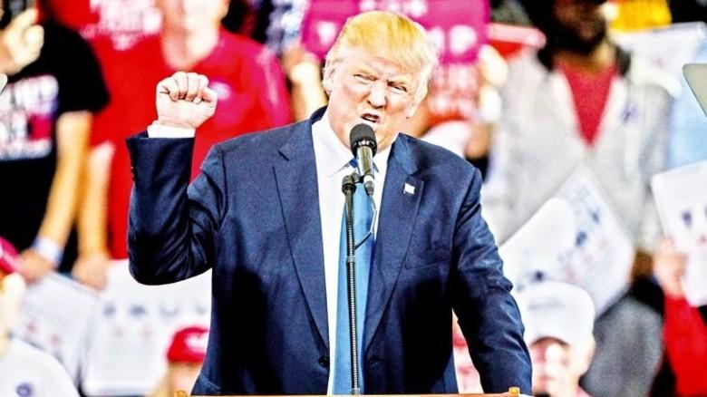 """""""Niemand baut bessere Mauern als ich."""" Donald Trump, künftiger Präsident der USA. Foto: dpa"""