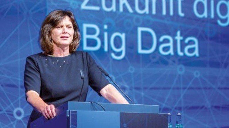 Sprach beim Kongress: Bayerns Wirtschaftsministerin Ilse Aigner sieht in Big Data eines der großen Zukunftsthemen für die Wirtschaft. Foto: Bodmer