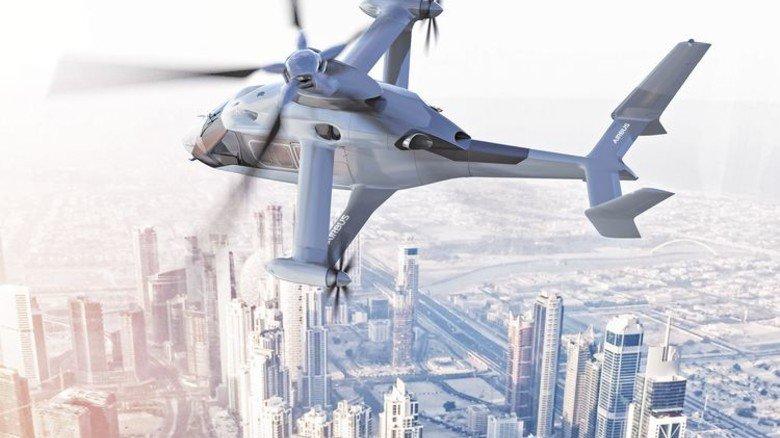 Leicht und wendig: Das neue, unkonventionelle Airbus-Vehikel. Illustration: Werk