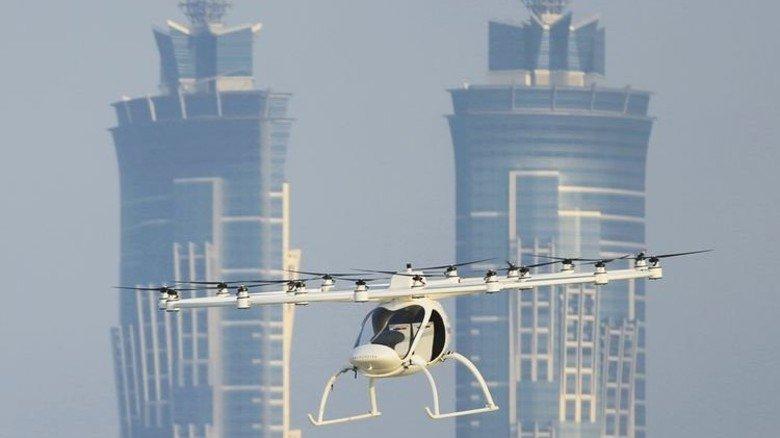 Luftikus: Test eines Drohnentaxis des deutschen Startups Volocopter in Dubai. Foto: dpa