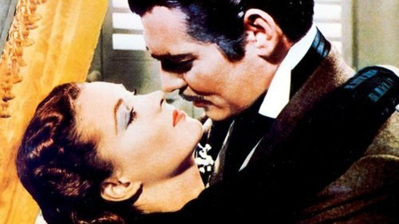 """""""Vom Winde verweht"""": Clark Gable herzt Vivien Leigh. Foto: dpa"""