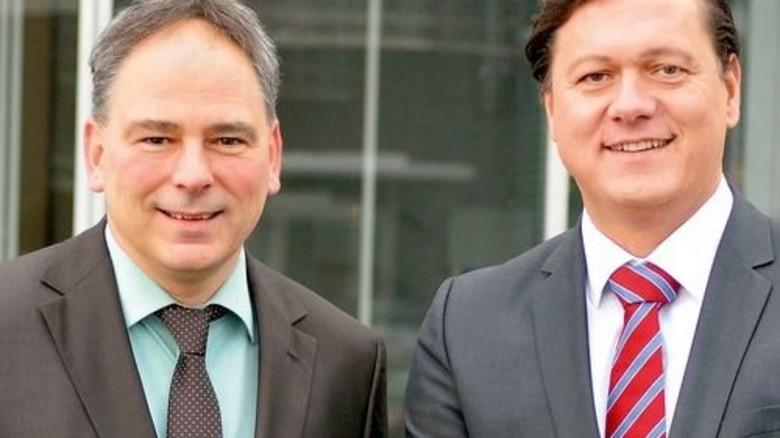 """""""Wir glauben an den Standort hier, aber alle müssen an einem Strang ziehen."""" Tobias Selzer (links) und Nils-Johann Fleck, Geschäftsführer. Foto: Scheffler"""