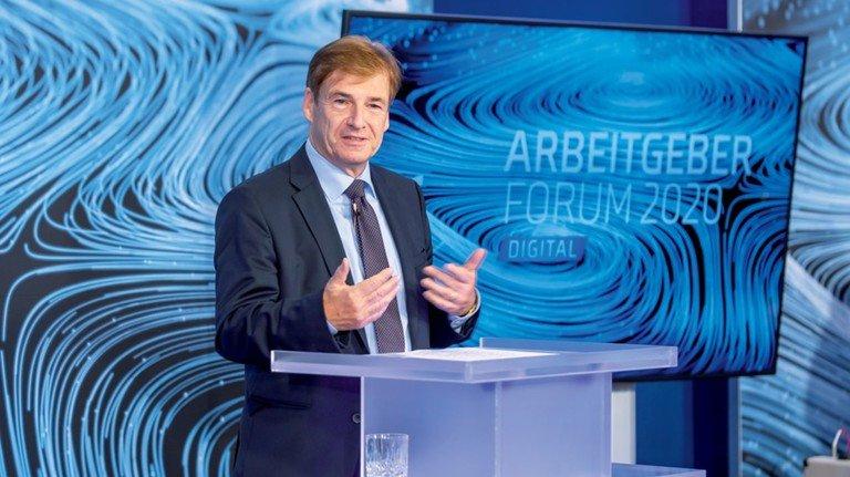 """Redet Klartext: Dr. Volker Schmidt, Hauptgeschäftsführer von Niedersachsenmetall und ADK, warnt vor """"munteren Umverteilungsdebatten""""."""