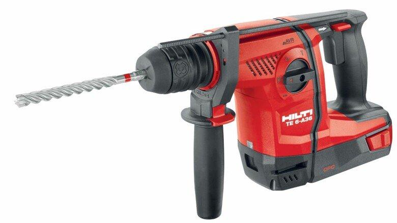 Kraftpaket: Bohrhammer von Hilti für den mobilen Einsatz.
