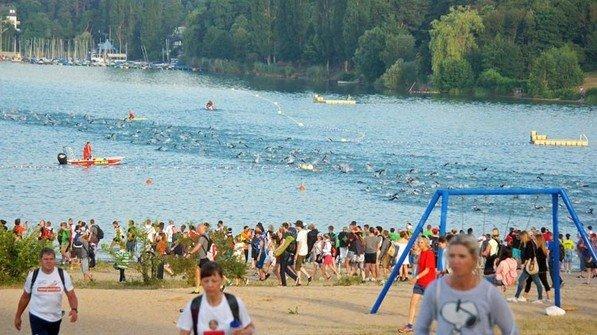Sportliches Event: Jedes Jahr startet hier der Ironman Frankfurt. Foto: dpa