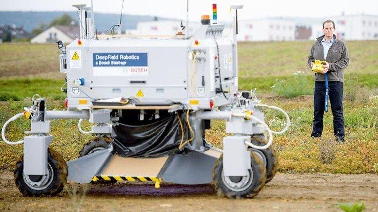 Agrar-Roboter: Daran tüfteln Experten von Bosch. Foto: Bosch