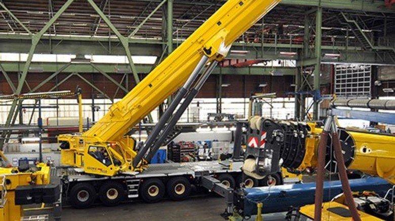 Gelbe Kraftprotze: Manitowoc baut Krane mit bis zu 450 Tonnen Tragkraft. Foto: Bahlo
