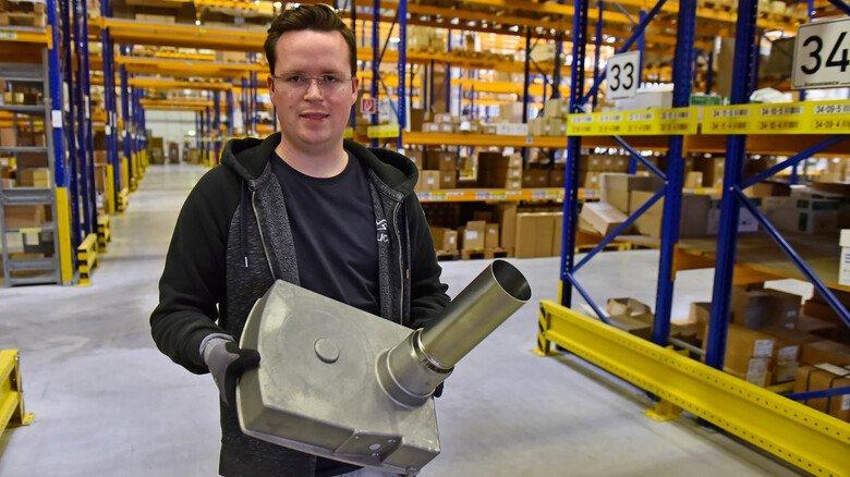 Im Lehrbetrieb geblieben: Lars Kochan hat bei MHG eine Ausbildung zum Industriekaufmann gemacht.