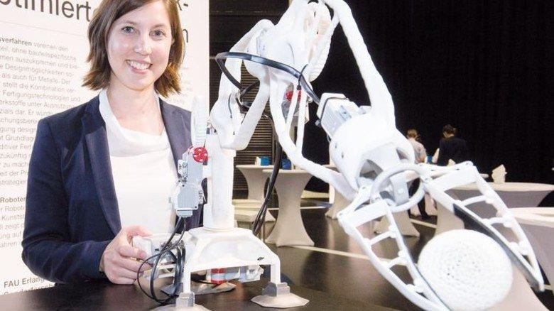 Das ist schon möglich: Ein Roboterarm, gefertigt per 3-D-Drucker. Foto: Bodmer