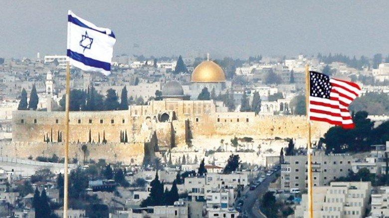 Historischer Schauplatz: Auf einem Gebäude in Jerusalem weht die US-Flagge. Foto: Getty