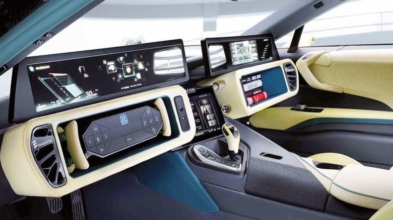 Versenkbares Lenkrad: Dieses Modell für ein Konzeptfahrzeug der Marke Rinspeed stammt von ZF TRW. Foto: Werk