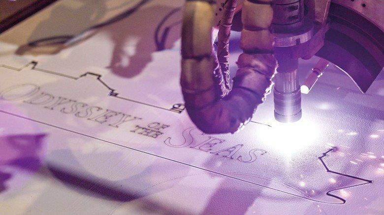 Laser-Schnitt: Der Brenner arbeitet computergesteuert und hocheffizient.