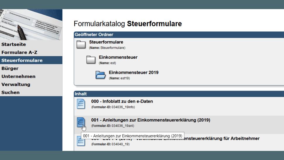 Die Steuererklarung Fur 2019 Neue Formulare Und Erstmals E Daten