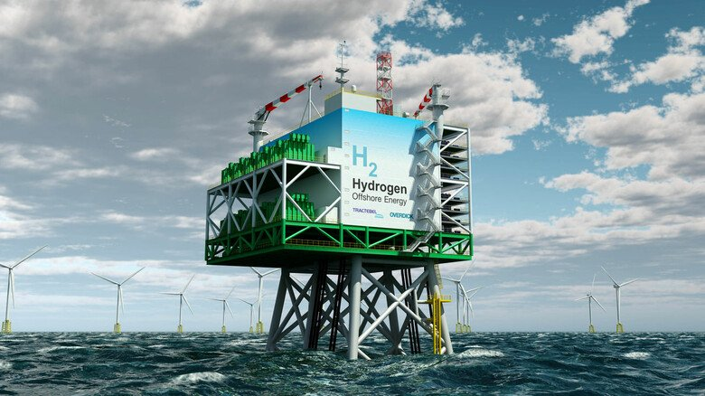 Neuer Ansatz: Mit dem auf See erzeugten Windstrom könnte direkt vor Ort Wasserstoff erzeugt werden.