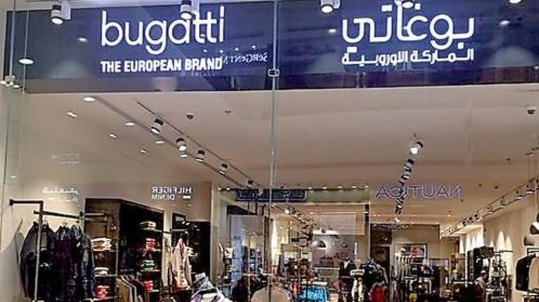 Zweisprachige Logos: Der Bugatti-Shop in Dschidda am Roten Meer wurde jüngst eröffnet. Foto: Werk