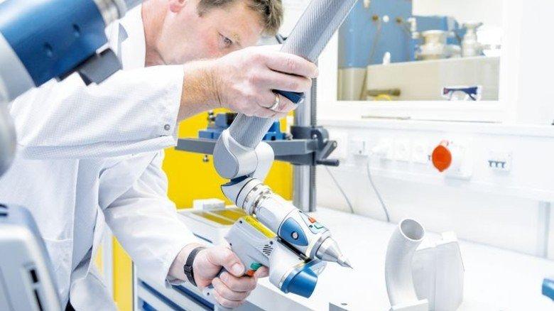 Siemens-Innovationen: Krümmer aus dem 3-D-Drucker. Foto: Siemens