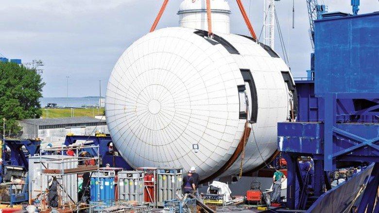 Herzstück: 500.000 Liter Gas passen in den neuen Tank des Schiffs. Foto: Werk
