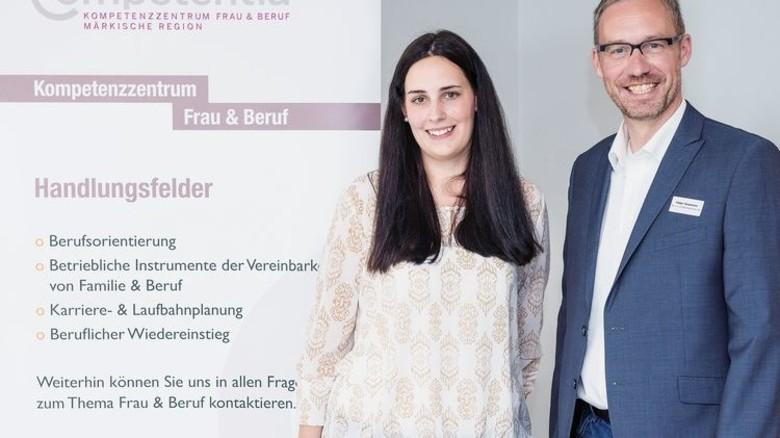 Unter Kollegen: Holger Koopmann konnte Diana Finke hilfreiche Tipps geben. Foto: agentur mark