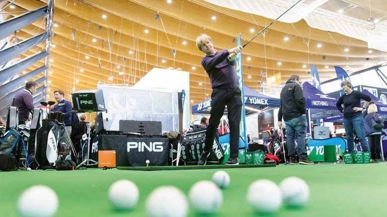 Abschlag: Auf der Driving Range versuchen Golfer ihr Glück. Foto: Messe Stuttgart