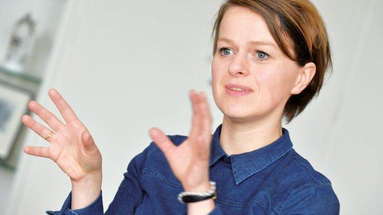 """""""Wir werden den Strukturwandel gemeinsam schaffen."""" Monika Umlauf, stellvertretende Geschäftsführerin der Schnittstelle Kohlekonversion. Foto: Bahlo"""