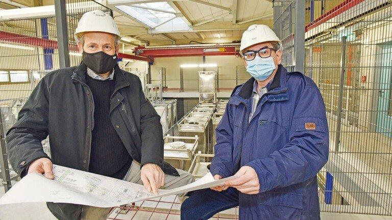 Immer im Gespräch: Die beiden Projektleiter Michael Sommer (links) und Oliver Busch.