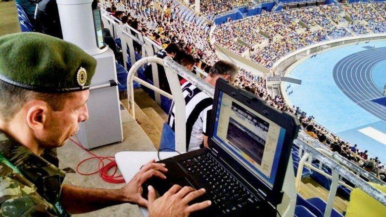 """Fernerkundung: Mit Airsense-Technik lässt sich bei Bedarf auch ein ganzes Stadion scannen, hier zum Beispiel das """"Estádio Olímpico João Havelange"""" in Rio de Janeiro. Foto: Werk"""