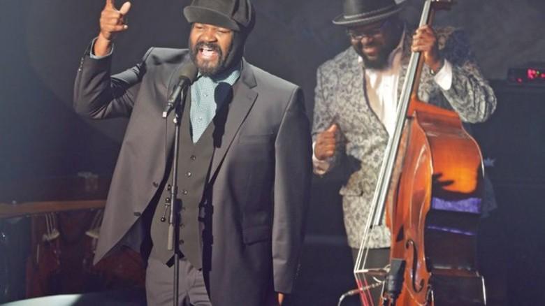 """Zusage: Gregory Porter beim """"Echo Jazz"""" in Hamburg. Foto: dpa"""