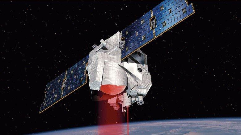 Schwerelos: Das aufgefaltete Sonnensegel liefert Energie für die Merlin-Mission.