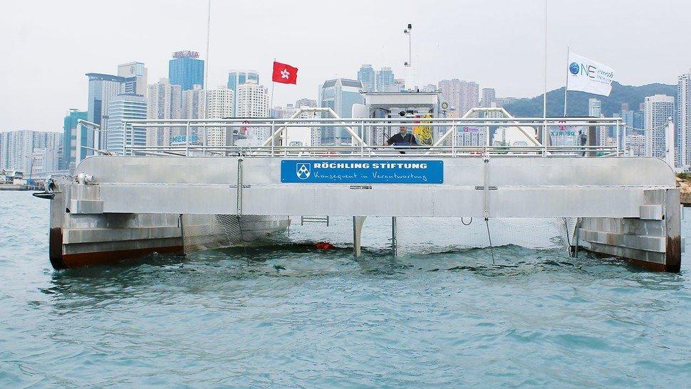 Soziales Engagement: das von Röchling gesponserte Spezialschiff.