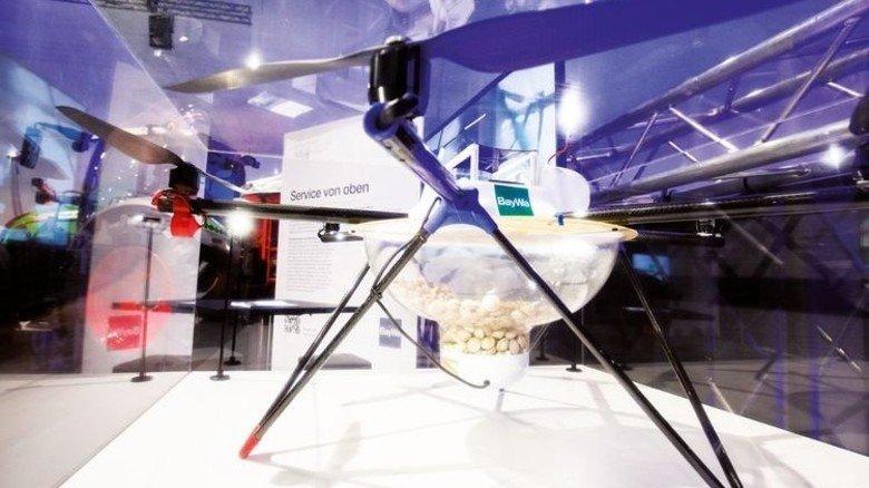 In der Landwirtschaft helfen vollautomatische Drohnen beim Pflanzenschutz. Foto: Bodmer