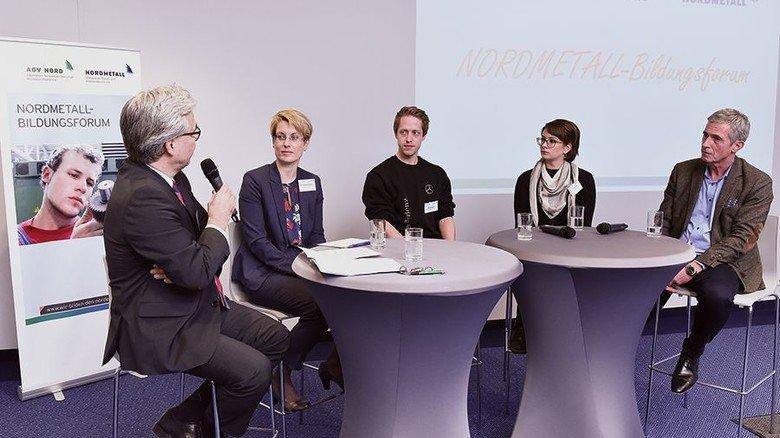 Fachlicher Austausch: Abschließende Diskussionsrunde beim Nordmetall-Bildungsforum in Hamburg. Foto: Christian Augustin